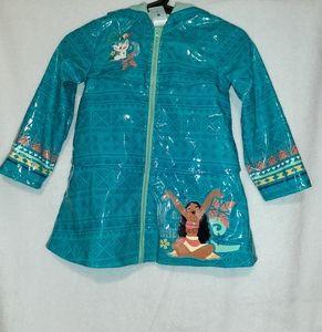 Disney Authentic Moana Raincoat Girls Size 4